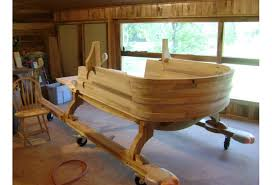 with a little bit of santa s magic the wood from a single poplar tree was transformed into santa s sleigh gregg did all of the woodworking himself and