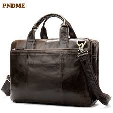 <b>PNDME</b> Men's <b>First Layer</b> Leather Tote Bag <b>Business</b> Bag Leather ...