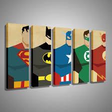 Painting Canvas For Living Room Oil Painting Canvas Super Hero Superman Batman Cartoon Modular