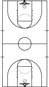 high basketball court dimensions