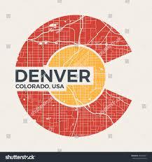 Logo Design Denver Colorado Tshirt Graphic Design Denver City Stock Vector