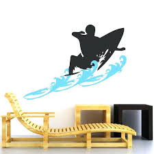 surfer wall art surfer wall decal with waves trendy wall designs surfboard wall art uk surfboard