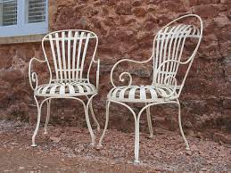 Restoration of antique French metal chairs