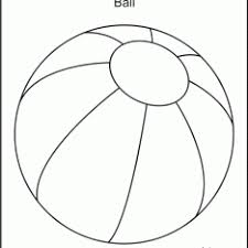 Small Picture Beach Ball Coloring Sheets