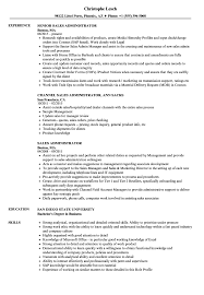 Sales Administrator Resume Sales Administrator Resume Samples Velvet Jobs 1