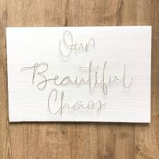 our beautiful chaos wire word wall art