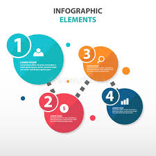 Abstract Circle Flow Chart Business Infographics Elements