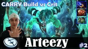 arteezy visage safelane carry build vs crit ww dota 2 pro