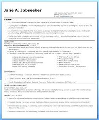 Resume Pharmacy Technician Certified Pharmacy Technician Resume For ...