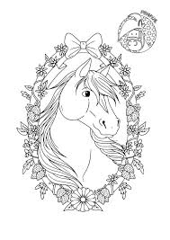 I Love Paarden Kleurplaten Nieuw Mooi Paard Met Krans Penny