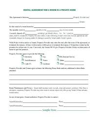 Room Rental Contract House Rental Contract Template Free
