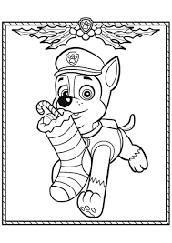 Chase And Skye Paw Patrol Coloring Pages Marshall Page Printable