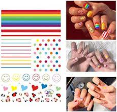 Banamic Self Adhesive 3D Design Nail Art Stickers ... - Amazon.com