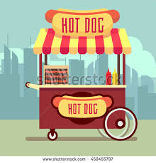 Hot Dog Vending Machine Price Awesome Street Food Vending Cart Hot Dogs Stock Vector Royalty Free