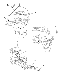 4717480ab genuine mopar latch hood latch inside chrysler town and country parts diagram