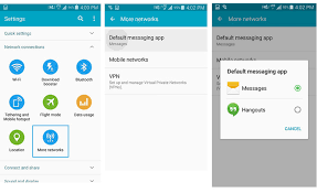 app to text from computer how to change the default sms app on android