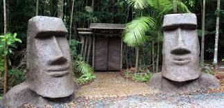 concrete sculpture easter island moai cement sculptures