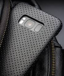 galaxy s8 s8 perforated leather back case