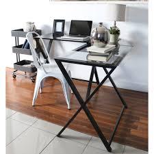 full size of desks walker edison l shaped glass computer desk 3 piece glass computer