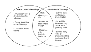 Martin Luther Vs John Calvin Venn Diagram Social Studies Rocky Adfz