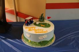 A Perfect Cake For My Daughters 7th Birthday Party At Mini Golf Yelp