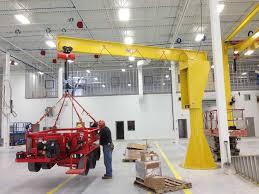 Jib Crane Base Plate Design Floor Mounted Jib Cranes Wallace Cranes