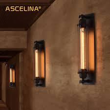 Industriële Vintage Wandlamp Beha Ijzer Loft Lampen Slaapkamer Gang