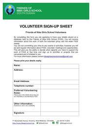 10 Volunteer Sign Up Sheet Templates Pdf Free Premium