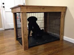 this listing is for a wooden dog crate cover designed and sized to fit over a wire dog kennel the top is a rustic farmhouse style with planks and furniture style dog crates