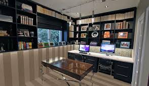 office storage space. Home Office Design Solution For A Small Space Finished View Storage