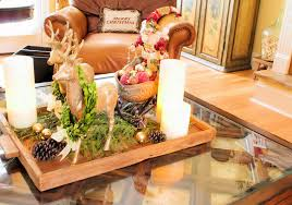 How To Decorate A Coffee Table Tray Decorations Santa Coffee Table Christmas Centerpiece Alongside 70