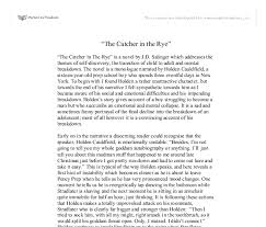essay on catcher in the rye co essay
