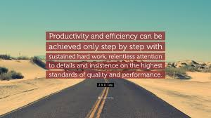 "Quality Quotes Magnificent J R D Tata Quote ""Productivity And Efficiency Can Be Achieved"