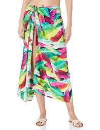 Amazon Com La Blanca Womens Pareo Wrap Swim Cover Up Blue