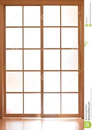 sliding gl modern door in an style stock photos