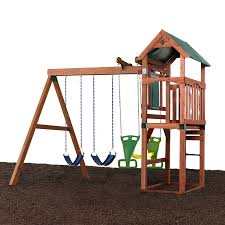 swing n slide glenwood complete ready to assemble kit without slide wood