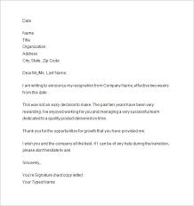 2 Weeks Notice Template Two Weeks Notice Letter 100 Free Sample Example Format Download 2
