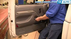 inside door. How To Install Replace Inside Door Handle Ford F150 F250 F350 92-96 1AAuto.com - YouTube