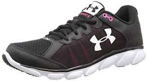 under armour womens shoes. under armour women\u0027s micro g assert 6, black/harmony red/white, 5 womens shoes
