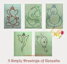 5 simple drawings of ganesha hues n shades