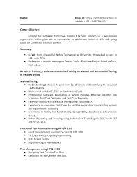 Qa Manual Tester Resume