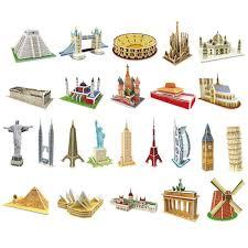 senarai harga 3d puzzle game diy paper dimensional model assembled brain teaser educational toys for children s jigsaw kids toys terbaru di