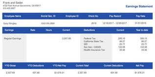 Free Paycheck Stubs Modern Stub Sample Templates Paystubcreator Net