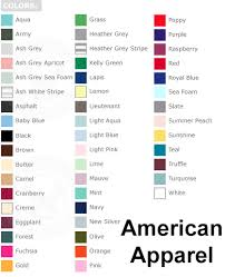 Gildan Shirt Color Chart 2016 Common T Shirt Brands Tee Blank Color Swatches Tee Fetch