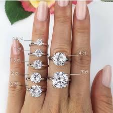 1 carat diamond size engagement rings whats your size unique diamond engagement