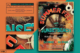Flyer Poster Templates Summer Fest Flyer Poster Template Free Posters Design For Photoshop