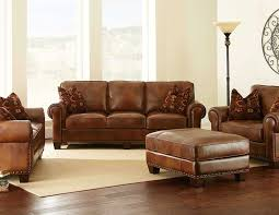 Living Room Design With Brown Leather Sofa Furniture Nice Leather Wingback Chair For Modern Family Room