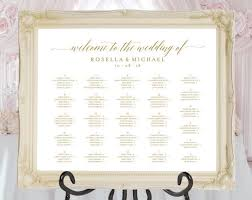 Guest Seating Chart Template Gold Wedding Seating Chart Printable Seating Chart Seating