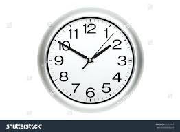 digital office clocks. Large Office Wall Clocks Clock Showing Time Isolated On White Digital