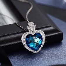 crystals from swarovski heart shaped pendant necklace